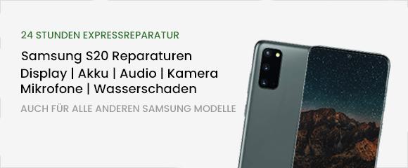 Samsung S20 Reparatur Banner
